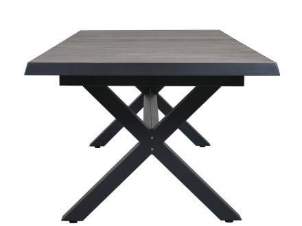 Vorschau: Gartentisch mit x-förmigen Untergestell
