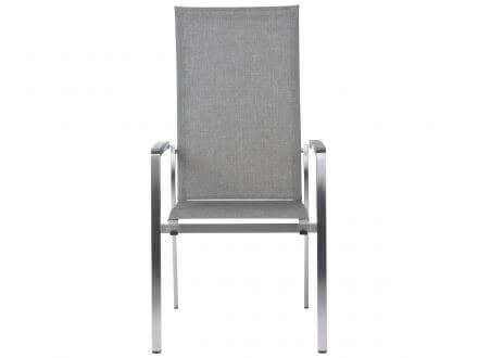 Vorschau: STERN Stapelsessel Mika hoch Edelstahl Textilenbezug Leinen grau