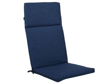 Lünse Sesselauflage Venice hoch Royal Blue 120x50cm