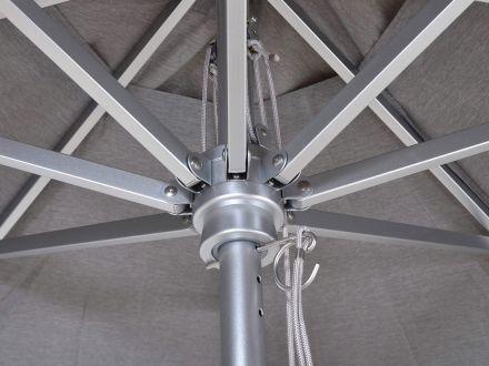 Vorschau: Lünse Aluminium Sonnenschirm Bayville Detailbild Strebenkrone