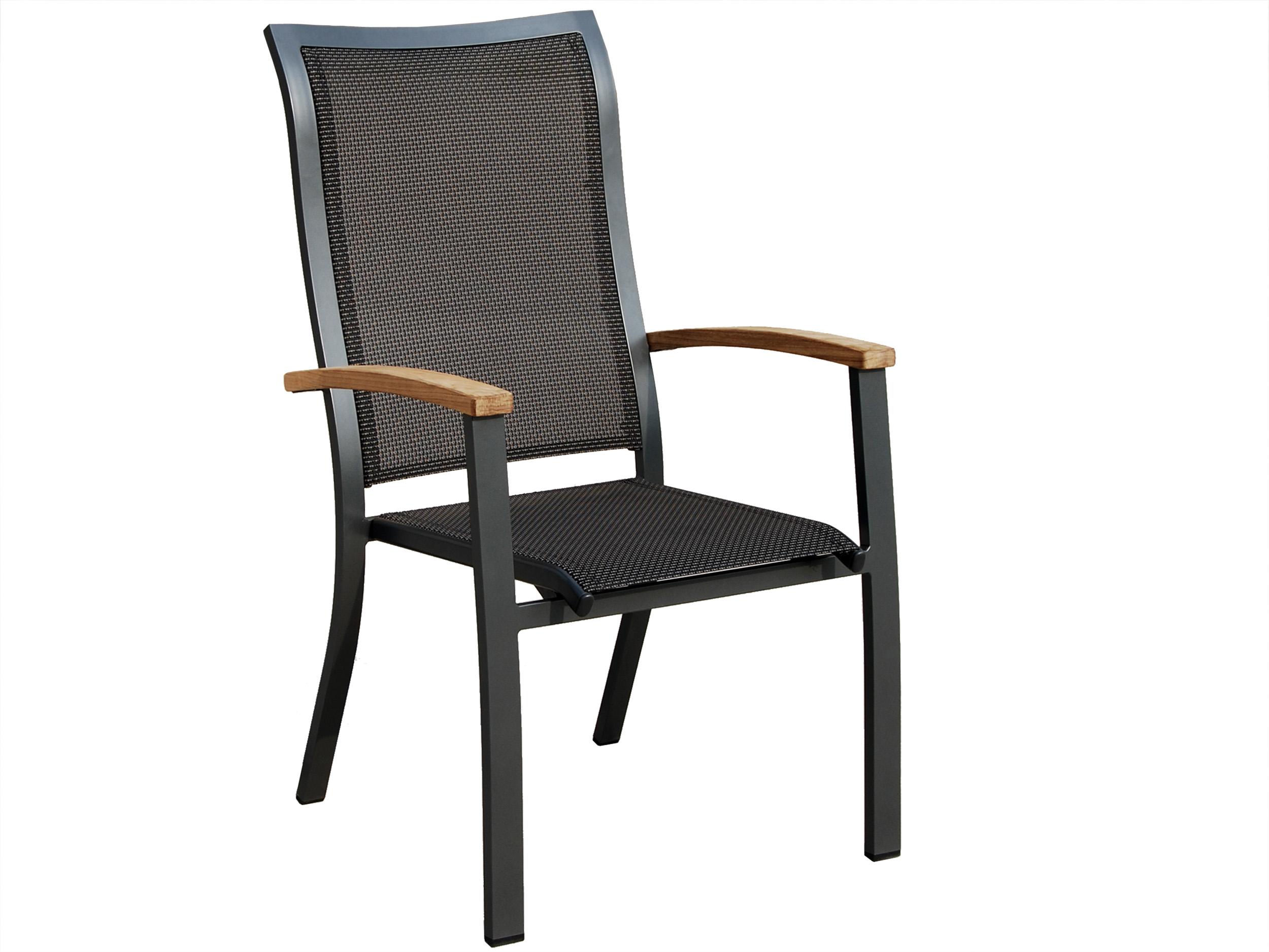 stapelsessel lugo aluminium outdoorgewebe teak gartenm bel l nse. Black Bedroom Furniture Sets. Home Design Ideas
