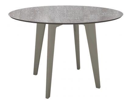 STERN Gartentisch Ø110cm HPL Aluminium graphit