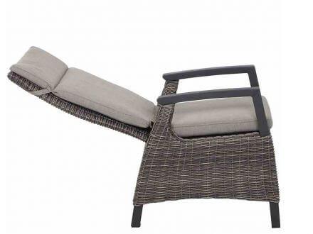 Vorschau: Siena Garden Corido Move Dining Sessel verstellbar Polyrattan charcoal grey