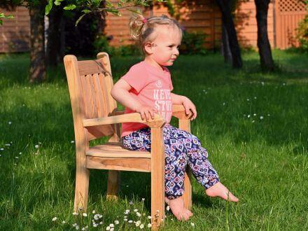 Vorschau: Lünse Kinder Gartenstuhl Teak Gartensessel Beaufort