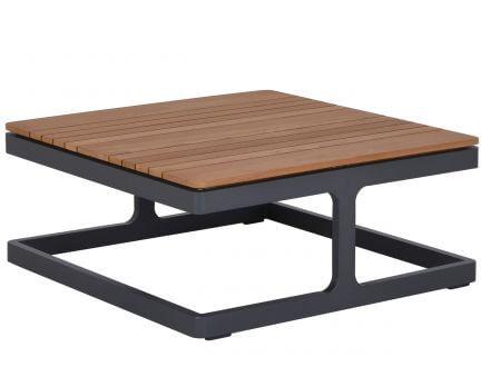 Vorschau: Lünse Alu Teakholz Design Loungemöbel-Set Amber anthrazit