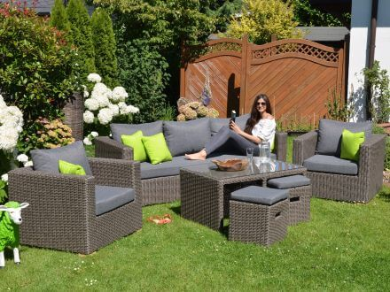 Gartenmöbel set lounge  Outdoor Lounge Gartenmöbel Set Meridien 6-teilig | Gartenmöbel Lünse