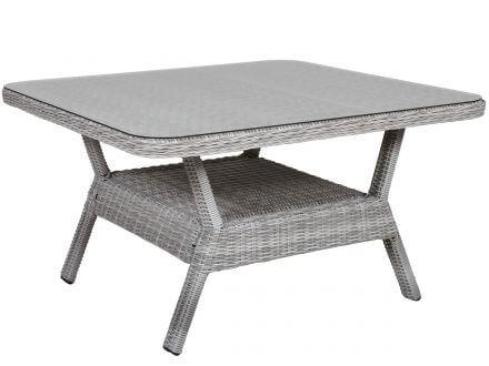 Vorschau: extra großer Tisch mit Glasplatte und Ablagefach