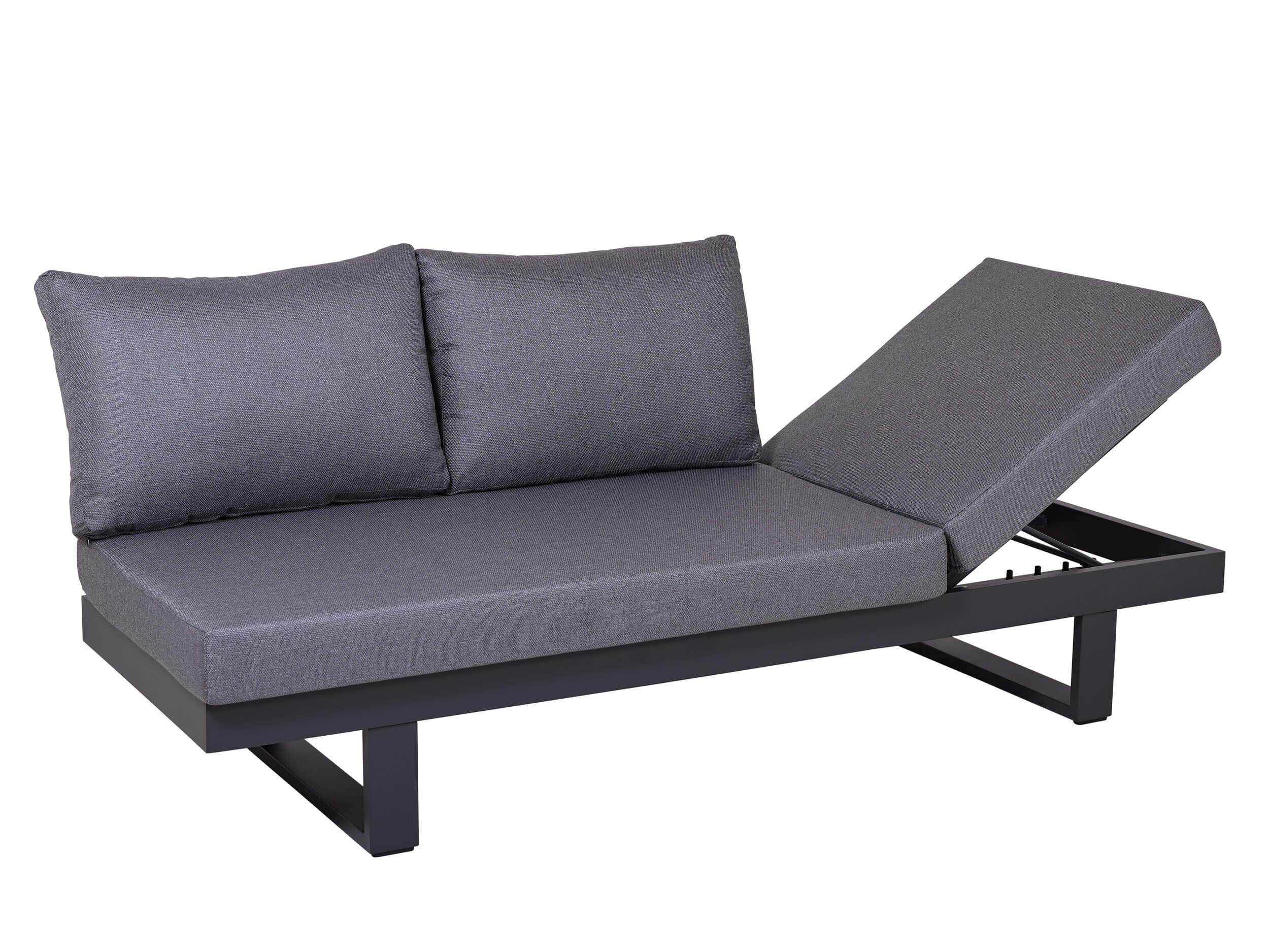 Multifunktionale Alu Lounge Liege Sofa Vermont   Gartenmöbel Lünse
