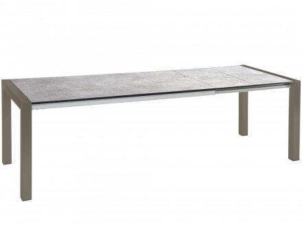 STERN Doppel-Ausziehtisch Standard Alu taupe 214-294x100cm