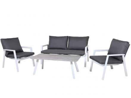 Lünse Aluminium Loungeset New Hampshire weiß