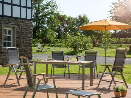 Vorschau: Kettler Memphis champagner/mocca, Sitzgruppe im Garten