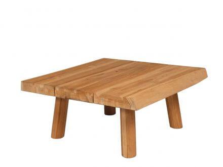 Tierra Outdoor Teakholz Lounge Tisch Wakkanda 80x80cm