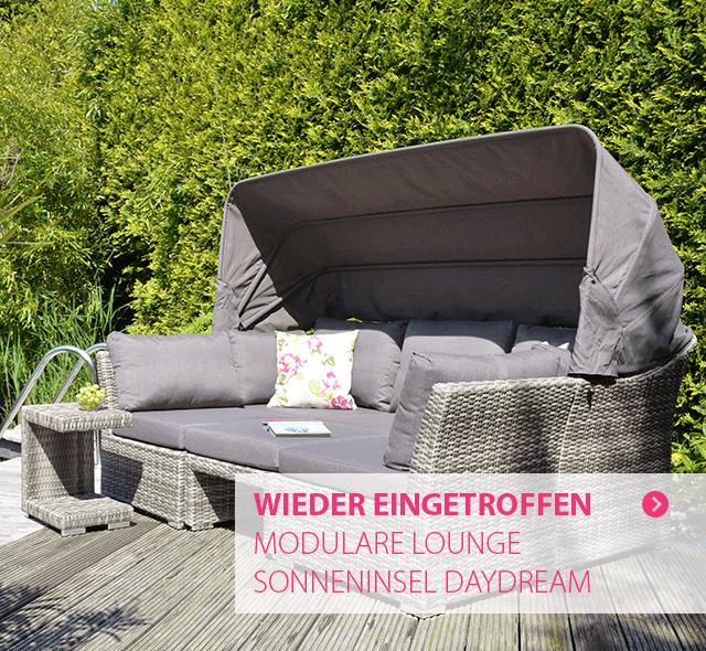 Endlich wieder lieferbar: modulare Lounge Sonneninsel Daydream