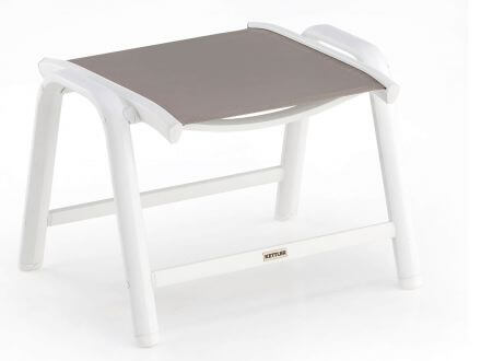 Kettler Vista Hocker weiß-beach-grey