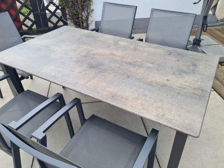 Vorschau: Alu Gartentisch Loft 160x90cm Concrete