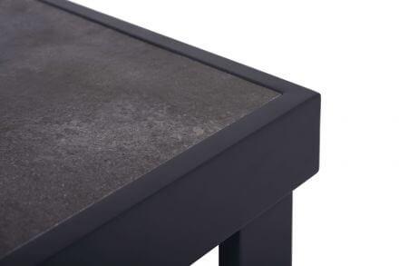 Vorschau: Lünse Alu Keramik Lounge Beistelltisch Vermont 65x65cm