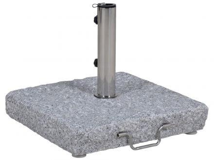Schirmständer 55kg Granit grob grau 50x50cm