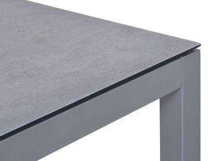 Vorschau: Lünse Aluminium Glas-Keramik Gartentisch Maine 90x90cm graphit