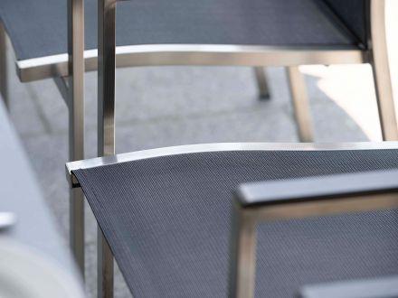Vorschau: Detailbild Cardiff Sitzfläche silbergrau