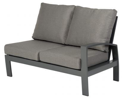 Tierra Outdoor Aluminium Loungemöbel Valencia 2-Sitzer links offen