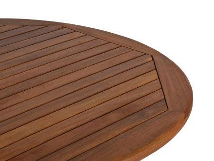 Vorschau: Lünse Holz Klapptisch Bali Ø100cm Detailbild