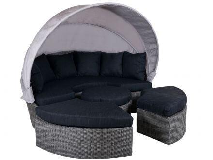 Lünse Lounge Insel Oasis II 4-teilig modular Ø180cm