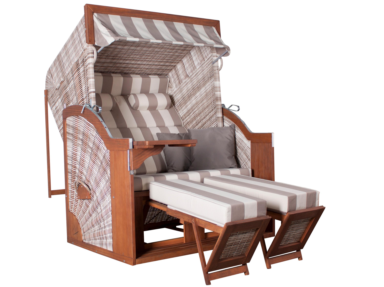 deVries Strandkorb - PURE Comfort XL - seashell | Gartenmöbel Lünse