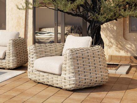 Vorschau: Tierra Outdoor XL Polyrattan Lounge Sessel Wakkanda