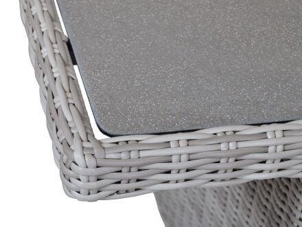 Vorschau: Tisch mit Glasplatte mit Spraystone-Beschichtung, Farbe: taupe