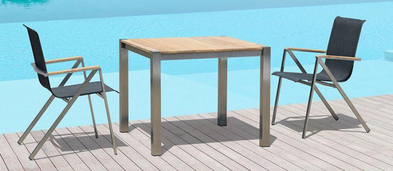 Gartentische Metall-Holz