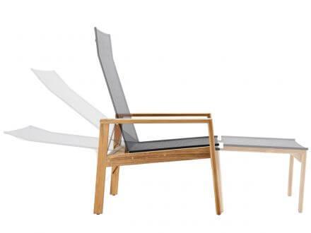 Vorschau: Deckchair mit mehrfach verstellbarer Lehne