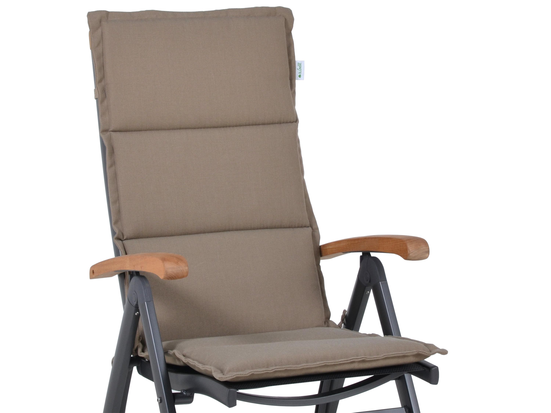 polsterauflage malibu f r alu hochlehner farbe sand. Black Bedroom Furniture Sets. Home Design Ideas