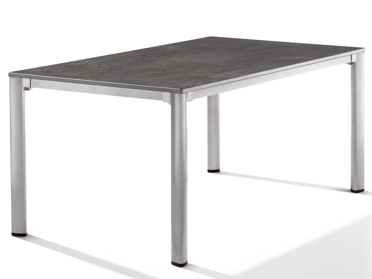 Sieger Gartentisch Loft 165x95cm graphit/Beton dunkel