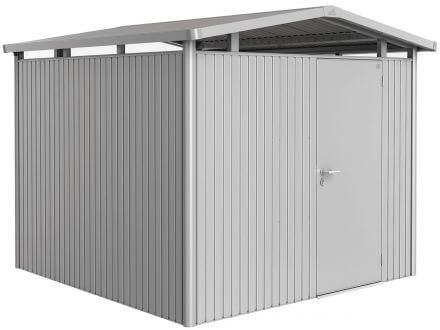 Gerätehaus Panorama® P4 silber-metallic mit Standardtüre
