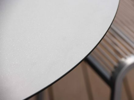 Vorschau: Detailbild Tischplatte Uni grau