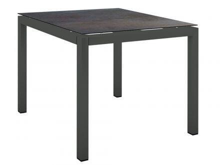 Stern Gartentisch 90x90cm Aluminium anthrazit/Silverstar 2.0 Nitro
