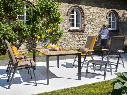 Vorschau: Kettler Memphis anthrazit/bronze Sitzgruppe im Garten