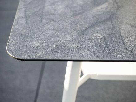 Vorschau: Stern Vanda Lounge-Tisch 130x80cm weiß Silverstar 2.0 Dark Marble