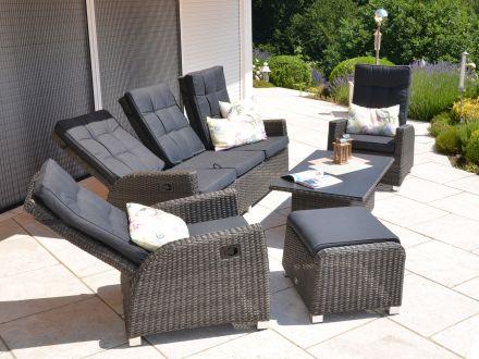 multifunktionale lounge gruppe valencia 5 teilig gartenm bel l nse. Black Bedroom Furniture Sets. Home Design Ideas