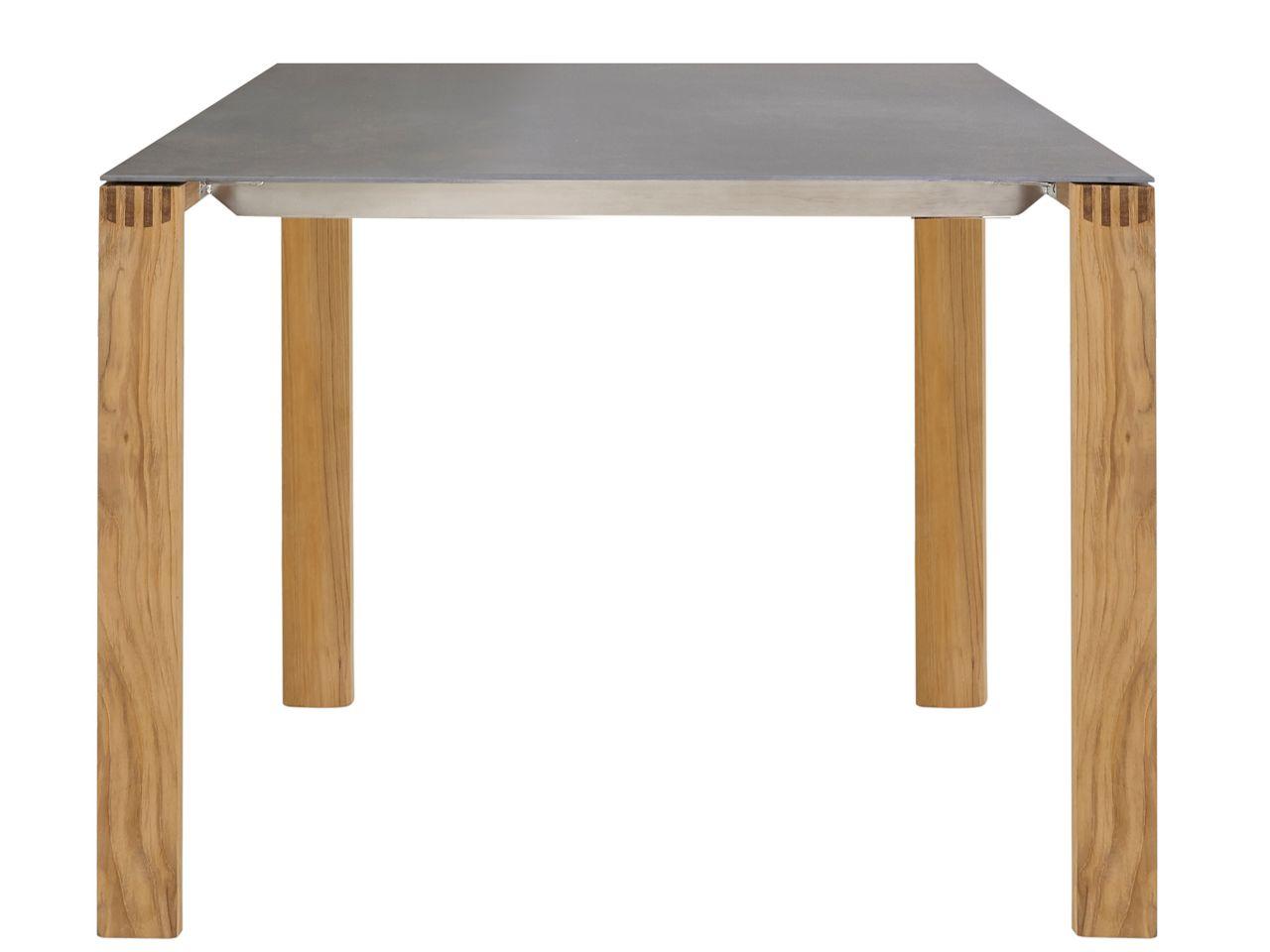 Solpuri Safari Gartentisch 100x100cm Teakholz/Keramik