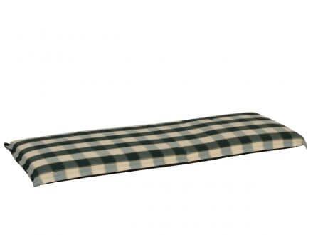 Lünse Bankauflage Santos grün-kariert 140cm 3-Sitzer