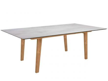 Stern Tischsystem Gartentisch Interno Teak HPL Silverstar 2.0