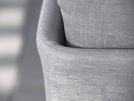 Vorschau: Detailbild Stern Outdoorstoff hellgrau seidengrau