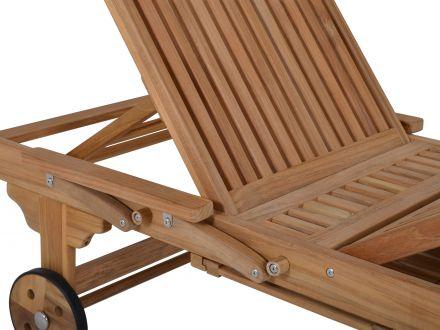 gartenliege aus teakholz san francisco mit rollen. Black Bedroom Furniture Sets. Home Design Ideas