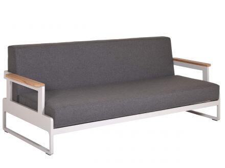 Vorschau: 3-Sitzer Sofa mit Teakarmlehnen