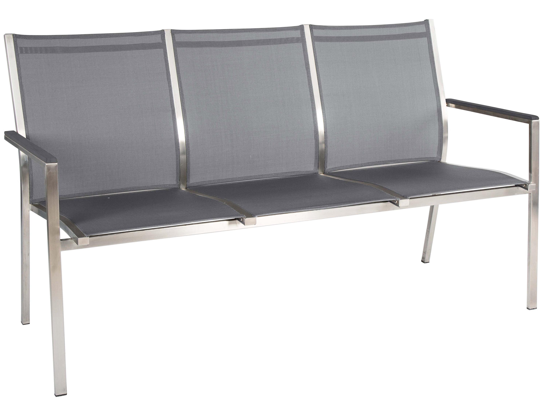 stern bank cardiff silbergrau mit aluminiumarmlehnen. Black Bedroom Furniture Sets. Home Design Ideas