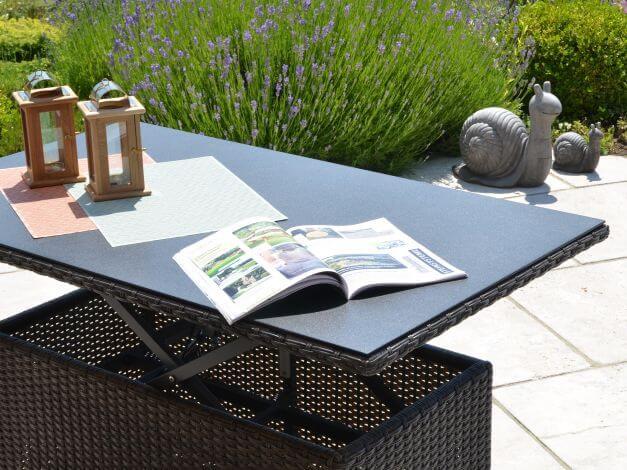 Loungegruppe Valencia, Tisch stufenlos höhenverstellbar