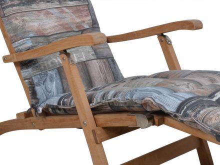 Vorschau: Deckchair Auflage mit 3 Kammern mit Stehsaum