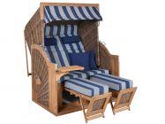 Teak Strandkorb PURE Comfort XL griseum Dessin 434