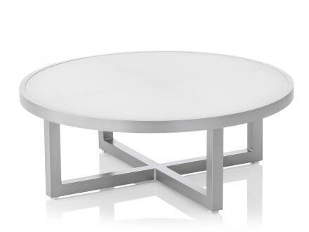 Kettler EGO Lounge Tisch Ø92cm silber